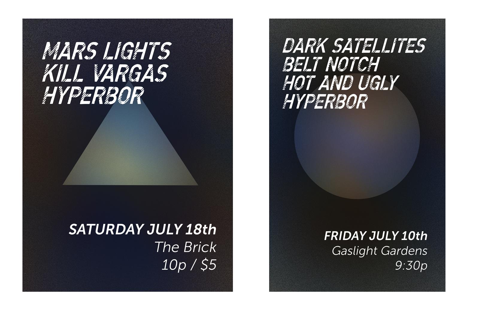 Mars Lights and Dark Sattelights